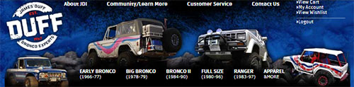 Duff Tuff Ford Bronco, Ranger & Explorer Accessories