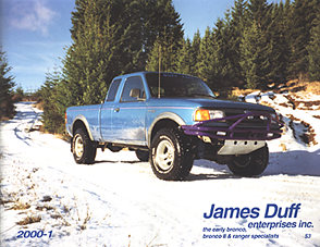James Duff  Bronco II, Ranger & Explorer Parts
