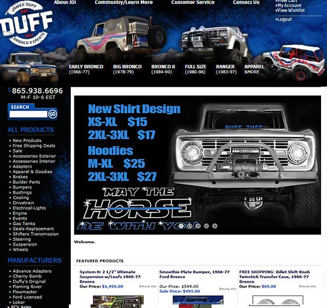 Black blue friday classic ford bronco early bronco ii parts duff tuff ford parts fandeluxe Choice Image