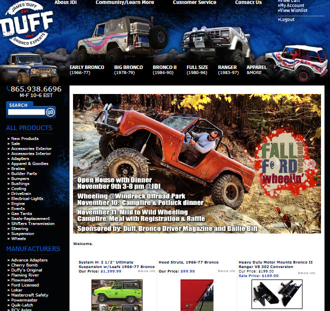 Duff Tuff Ford Parts!